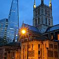 The Shard And Southwark Cathedral by Darren Galpin
