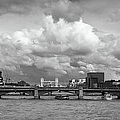 The Shard And Thames View Black And White Version by Gary Eason