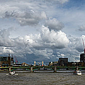 The Shard And The Thames At Southwark by Gary Eason