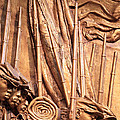 Saint Gaudens -- The Shaw Memorial's Left Side by Cora Wandel