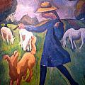 The Shepherdess by Roger de La Fresnaye