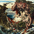 The Shipwreck Of Agrippina by Gustav  Wertheimer
