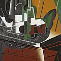 The Sideboard, 1917 Oil On Plywood by Juan Gris
