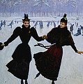 The Skaters by Jean Beraud