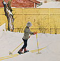 The Skier by Carl Larsson