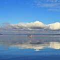 The Sky The Lake And The Boat by Rima Biswas