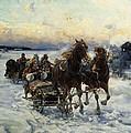 The Sleigh Ride by Alfred von Wierusz Kowalski