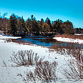 The Snowy Moose River - Old Forge New York by David Patterson