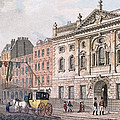 The South Front Of Ironmongers Hall, From R. Ackermanns Repository Of Arts 1811 Colour Litho by English School