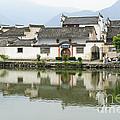 The South Lake In Hongcun Village by John Shaw
