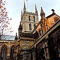 The Southwark Cathedral Church London In Winter by Gordon James