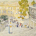 The Spanish Steps Of Rome by Childe Hassam