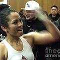 The Speed Of Woman's Boxing Champion Ana Julaton by Jim Fitzpatrick