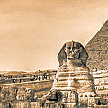 The Sphinx And Pyramids - Vintage Egypt by Mark Tisdale