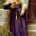The Spinner by William Bouguereau
