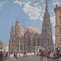 The St Stephen's Cathedral In Vienna by Rudolf von Alt