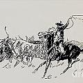 The Stampede by Charles Russell