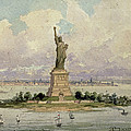 The Statue Of Liberty  by Frederic Auguste Bartholdi