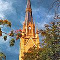The Steeple Of The Basilica Of The Sacred Heart by John M Bailey