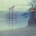 The Stone Lantern Cira 1880 by Aged Pixel