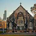 The Stranger's Church And Willis Tower by Anthony Doudt