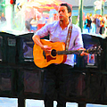 The Street Performer On Market Street - 5d20725 by Wingsdomain Art and Photography