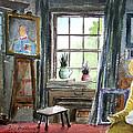 The Studio Of Juliet Pannett by Bill Holkham
