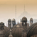 The Suleymaniye Mosque And New Mosque In The Backround by Ayhan Altun