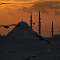 The Suleymaniye Mosque At Sunset by Ayhan Altun