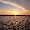 The Sun Coming Up On The Chesapeake by Bill Cannon