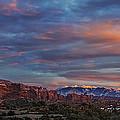 The Sun Sets At Balanced Rock by Roman Kurywczak