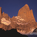 The Sunrise Of Fire Mt Fitzroy by James Brunker
