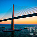 The Sunshine Under The Sunshine Skyway Bridge by Rene Triay Photography