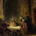 The Supper At Emmaus, 1648 Oil On Panel by Rembrandt Harmensz van Rijn