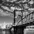 The Suspension Bridge Bw by Mel Steinhauer