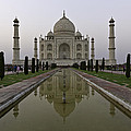 The Taj Mahal In Agra India At Dusk. by Alan Gillam
