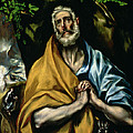 The Tears Of St Peter by El Greco Domenico Theotocopuli