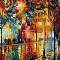 The Tears Of The Fall - Palette Knife Oil Painting On Canvas By Leonid Afremov by Leonid Afremov