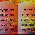 The Ten Commandments - Featured In Comfortable Art Group by Ericamaxine Price