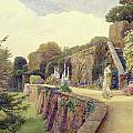 The Terrace At Berkeley Castle by George Samuel Elgood