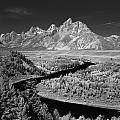 309217-the Teton Range From Snake River Overlook by Ed  Cooper Photography