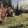 The Tetons Early Tribes by Wanda Dansereau