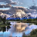 The Tetons From Oxbow Bend by Dan Sproul
