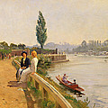 The Thames At Hampton Court by John Arthur Black