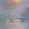 The Thames With Charing Cross Bridge by Claude Monet