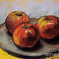 The Three Apples by Mona Edulesco