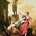 The Three Daughters Of Cecrops Discovering Erichthonius by Salomon de Bray