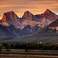 The Three Sisters Canmore by Diane Dugas