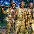 The Three Soldiers Facing The Wall by Jerry Gammon