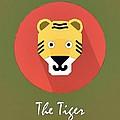 The Tiger Cute Portrait by Florian Rodarte